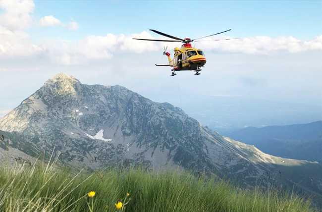 pratio montagna verricello elicottero panorama
